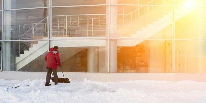 Hauswart Schnee und Winter iba
